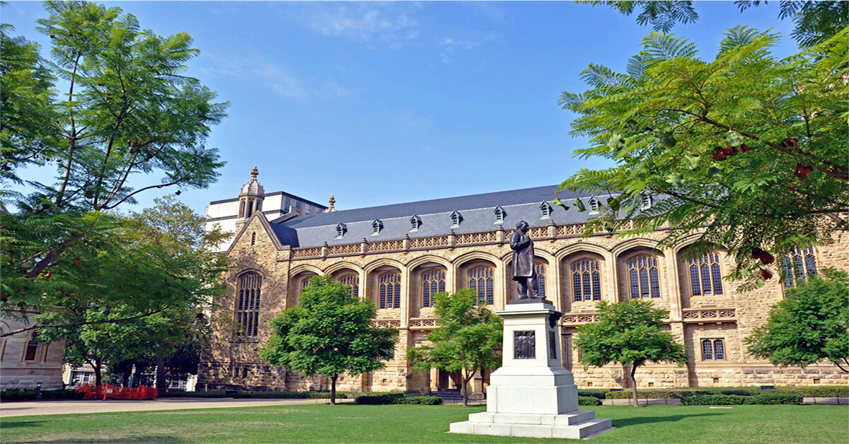 Một góc trường Đại học Adelaide