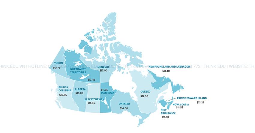 Mức lương làm thêm tại Canada mới nhất 2019