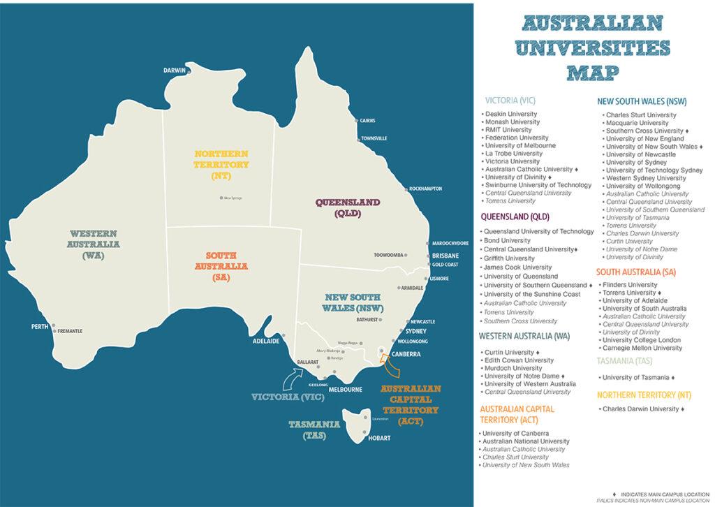 Australia Map with Uni locations_PRINT